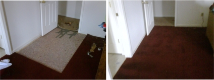 Carpet Patching Repair Before After